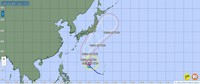 The projected course of Typhoon Mindulle is seen as of 9 a.m. on Sept. 27, 2021 in this image from the Japan Meteorological Agency website.