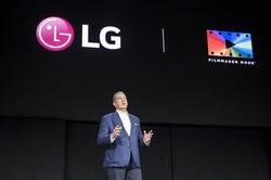 米国のデジタル技術見本市で講演するLG電子幹部 Bloomberg