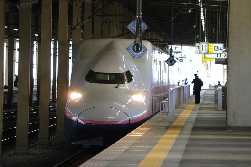 2階建て新幹線のE4系Max=燕三条駅で