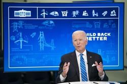 3.5兆ドルの巨額連邦予算について説明するバイデン米大統領 Bloomberg