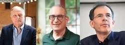 左からカード氏、アングリスト氏、インベンス氏(米カリフォルニア大バークリー校、マサチューセッツ工科大、スタンフォード大のホームページから)