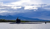 In this file photo provided by U.S. Navy, the Virginia-class fast-attack submarine USS Missouri (SSN 780) departs Joint Base Pearl Harbor-Hickam for a scheduled deployment in the 7th Fleet area of responsibility, Sept. 1, 2021. (Amanda R. Gray/U.S. Navy via AP,