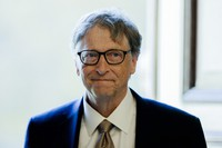 In this Oct. 16, 2018 file photo, Bill Gates, former CEO and co-founder of the Microsoft Corporation, arrives for a meeting in Berlin. (AP Photo/Markus Schreiber)