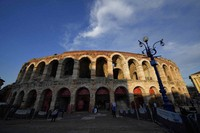 A view of the Arena in Verona, Italy, on June 25, 2021. (AP Photo/Luca Bruno)