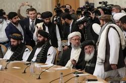アフガニスタン情勢を議論する国際会合に出席したタリバン暫定政権の代表団=モスクワで2021年10月20日、AP