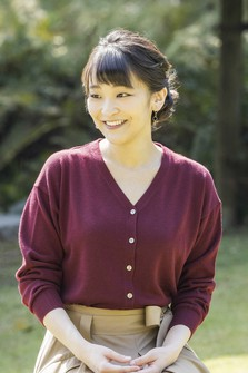 This photo provided by the Imperial Household Agency shows Princess Mako, who turned 30 on Oct. 23, 2021, at Akasaka Estate in Tokyo's Minato Ward on Oct. 6, 2021.