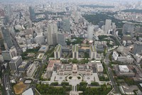 The National Diet building and its surroundings are seen in this file photo taken from a Mainichi Shimbun helicopter in Chiyoda Ward, Tokyo. (Mainichi/Junichi Sasaki)