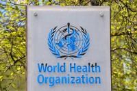 In this April 15, 2020 file photo, the logo and building of the World Health Organization (WHO) headquarters in Geneva, Switzerland. (Martial Trezzini/Keystone via AP)
