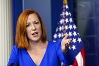 White House press secretary Jen Psaki speaks during the daily briefing at the White House in Washington, on Oct. 27, 2021. (AP Photo/Susan Walsh)